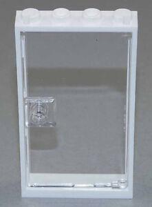 LEGO-Tuer-Rahmen-weiss-1x4x6-mit-klar-transparenter-Tuer-60596-60616-NEUWARE