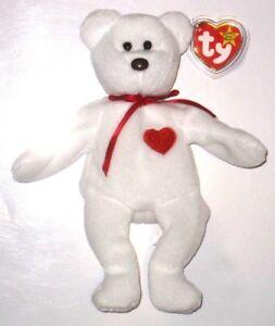d6eb5bb2542 Retired Ty Beanie Baby Valentino Bear Original 4058 PVC Errors 1993 ...