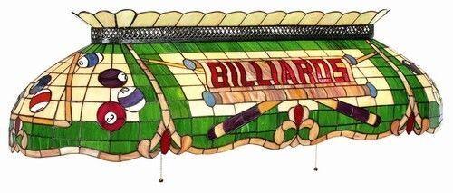 RAM Pool Table Lights Billiards Lighting CF50 Six 6 Bulb Stained Glass  Fixture | EBay