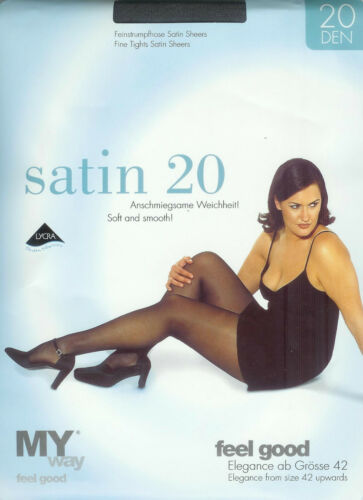 transparent 20den graphit 46-48  *MY way* Strumpfhose edle Satin-Sheers