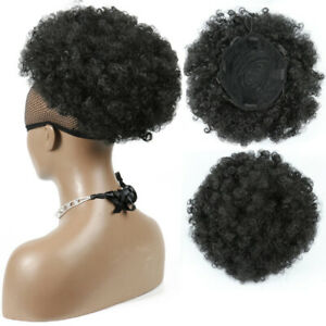 PW-Natural-Afro-Hair-Bun-Synthetic-Kinky-Curly-Ponytail-Puff-Drawstring-Exten