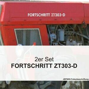 2-Folien-Aufkleber-Fortschritt-ZT-303-D-2er-Set-in-weiss-fuer-Schlepper-Trecker