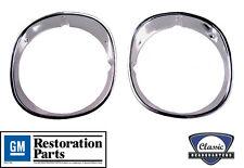 NEW CHQ 1970-1973 Camaro Headlight Bezels- Pair **GM Resoration Licensed Part**