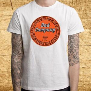 Bad Company Live At L A Forum 1976 Men S White T Shirt Size S M L Xl 2xl 3xl Ebay