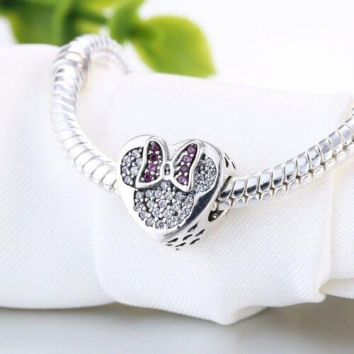 Minnie corazon plata de ley 925 pave circonitas