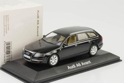 Audi A6 Avant Type 4F schwarz 2004 2008 1:43 Minichamps  Dealer