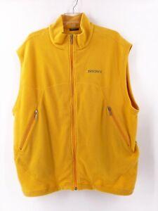 Descente-Mens-Fleece-Vest-Size-Extra-Large-Full-Zip-Yellow-Pockets
