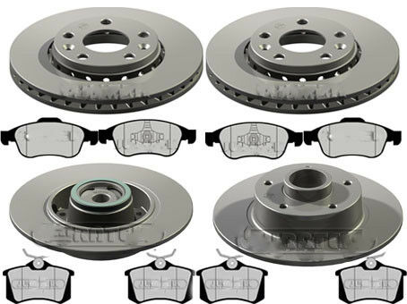 RENAULT SCENIC MK3 1.4 1.5 1.6 1.9 FRONT /& REAR BRAKE DISCS AND PADS check sizes