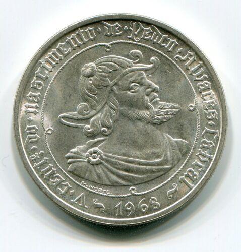 Portugal 50 Escudos Silver Pedro Alvares CABRAL 1968 Coin Discoverer of Brazil