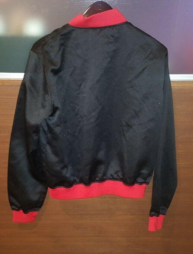 PLAYBOY BUNNY BLACK WITH RED SILK SATIN BOMBER JA… - image 4