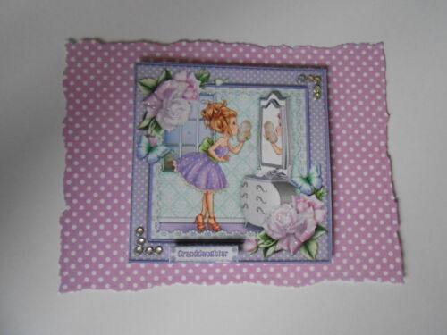 PK 2 LITTLE LADY*GRANDAUGHTER* EMBELLISHMENT TOPPERS FOR CARDS /& CRAFT