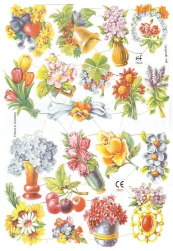 Chromo EF Découpis Fleur 7005 Embossed Illustrations Flowers