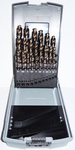 Edelstahlbohrer Metallbohrer Bohrer Set in Kunststoffbox Spiralbohrer