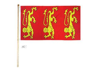 5/' Wood Flag Pole Kit Wall Mount Bracket With 3x5 Ice Cream Polyester Flag