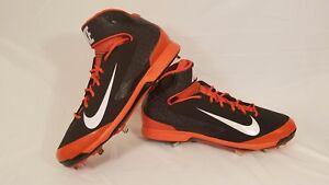 0cdbfe0e1806 Nike Air Huarache Pro Metal Baseball Cleats Black   Orange 599235 ...