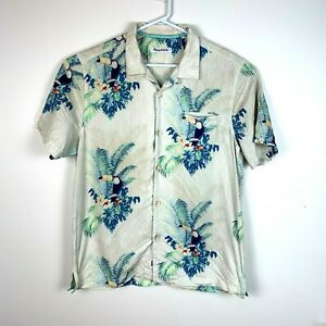 Tommy-Bahama-Button-Up-Silk-Short-Sleeve-Shirt-Men-039-s-Size-Large