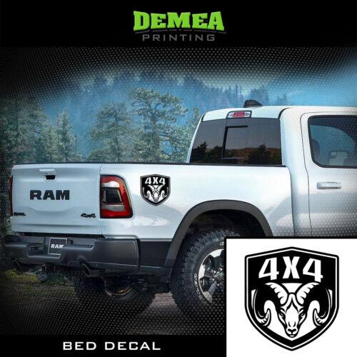 X2 1500,2500,3500,Rebel - Bed Truck Decal//Sticker Colors DODGE RAM 4x4