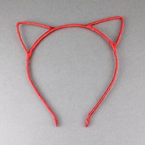 Gold Red cat kitten ears headband hair band accessory kawaii cosplay