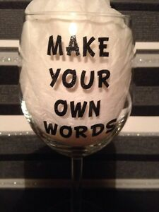 image is loading diy black glitter vinyl alphabet letters wine glass