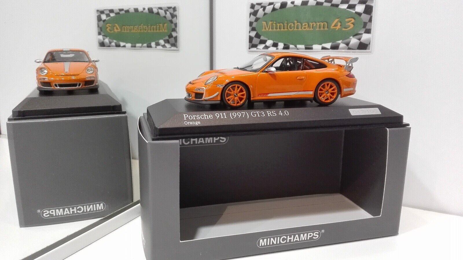 Minichamps 1 43 Porsche 911 997 (II) GT3 RS 4.0 2011 Orange  1 of 100