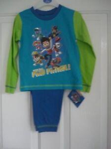 Boys Pyjamas long sleeve//legs Paw Petrol or JCB Joey 12 mths to 4 yrs