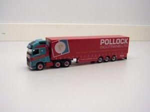 "Herpa 305686 Volvo FH GL XL Gardinenplanen-Sattelzug ""Pollock"" (GB)"