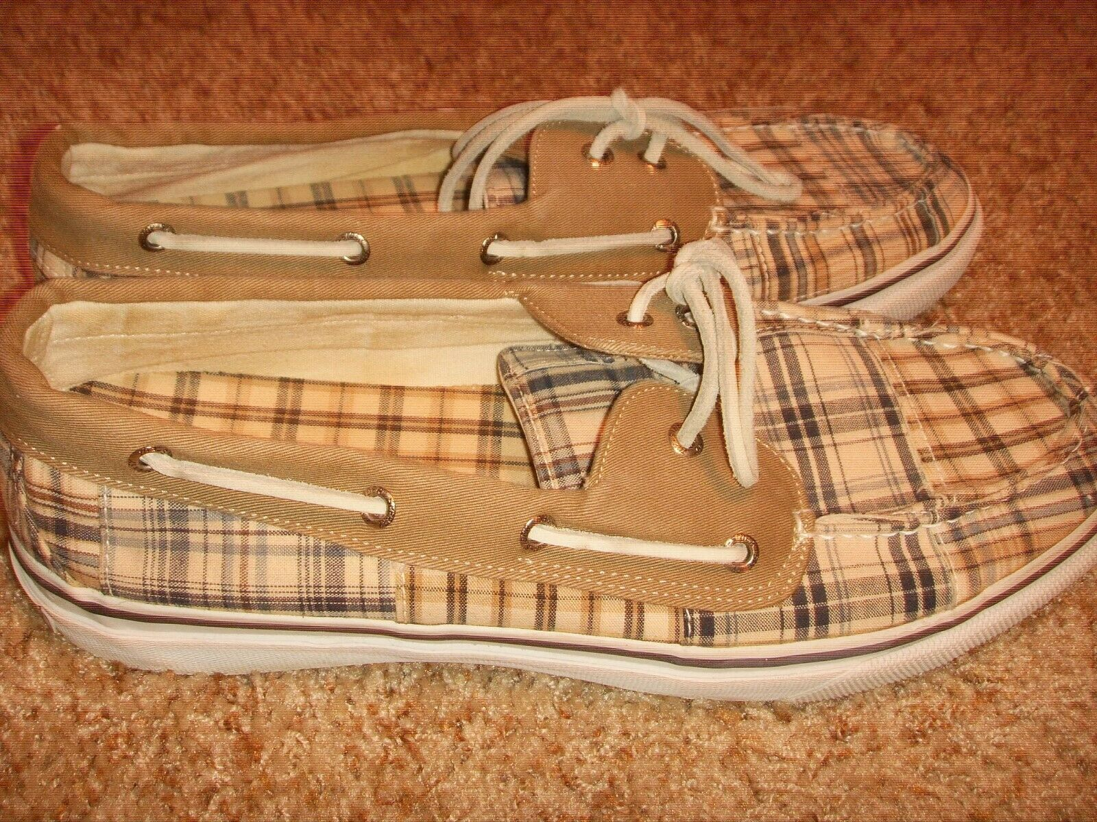 Sperry Topsider Plaid 0686840 Boat shoes Mens Size 13M