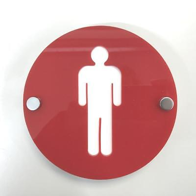 20cm x 20cm Super Cool Creations Mirrored Male /& Female WC Sign together