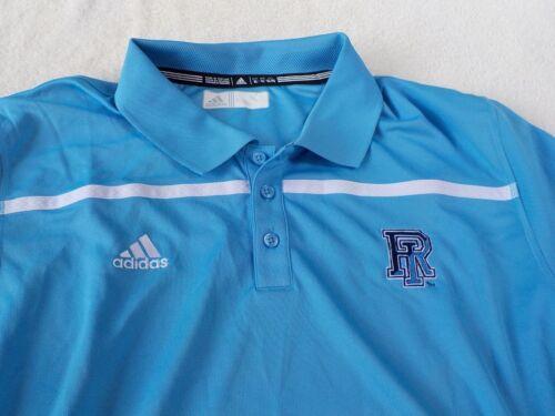 NWT Adidas  climalite polo polyester RI light blue Rhode Island men/'s M