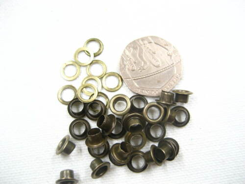 50sets 4mm bronze eyelets watchers shoes cards hole maker leather craft eyelets