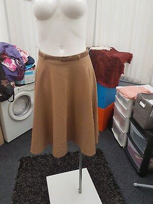 "Women's Clothing Ladies Bnwt ""principles At Debenhams"" Brown Skirt With Belt size 10"