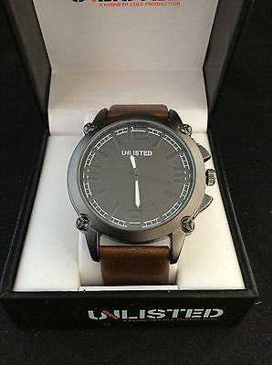 Unlisted by Kenneth Cole Mens Brown Leather Band  Sport Watch UL1300