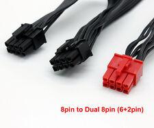 8Pin to Dual 8 Pin (6Pin+2P) PCIE Modular Video VGA Card Power Supply PSU Cable