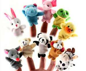 10Pcs-Animal-Finger-Puppet-Soft-Plush-Baby-Educational-Hand-Cartoon-Toys-HLss