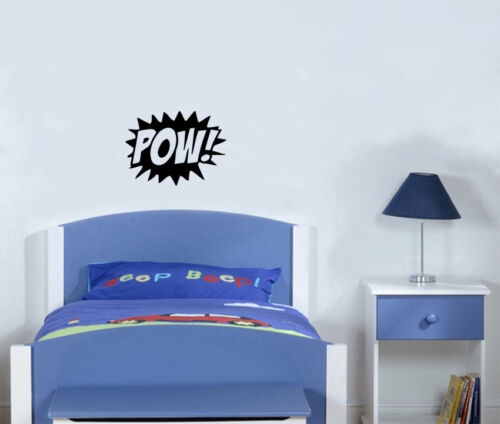 Pow Batman Hero Symbol Kampf Kinder Schlafzimmer Aufkleber Wandkunst Bild
