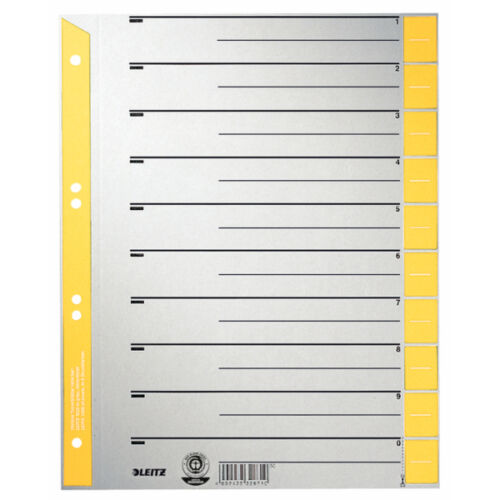 A4 Trennblatt Register NEU/&OVP 100x = 1Pck LEITZ 1652-00-15 Trennblätter gelb f
