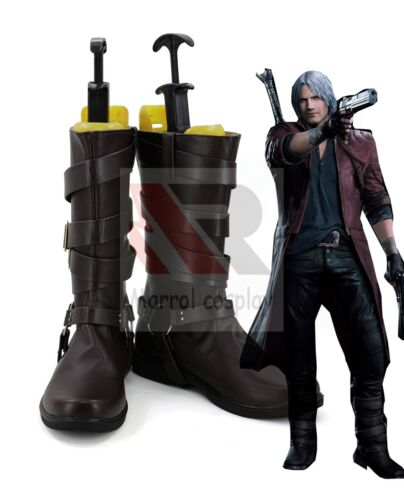 DMC Devil May Cry 5 Dante Men/'s Boots Cosplay Shoes Comic Con Customized Size