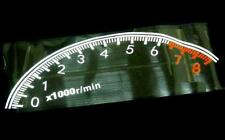 CAR REAR WINDSCREEN DECORATION ENGINE TACHOMETER DECAL STICKER NIGHT REFLECTIVE