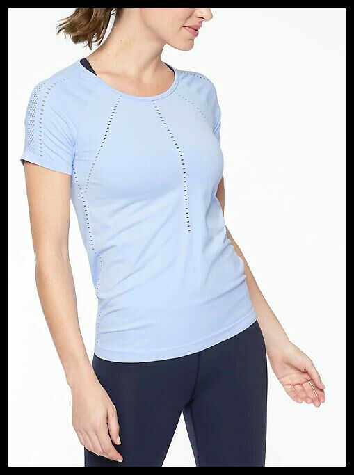 Athleta NWT Women's Foothill Tee Size Med color Pure bluee
