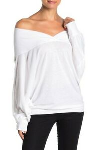 Free-People-Damen-Sequoia-OB967847-Top-Entspannt-Weiss-Groesse-XS