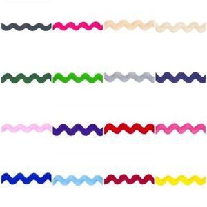 Jumbo-Ric-Rac-Braid-Trim-22m-Wide-14-Colours-Volume-Savings-amp-Free-Postage