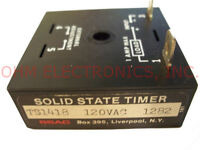 Ssac Ts1418 - Delay On Make No - 120 Vac Solid State Timer - 8s - 1a