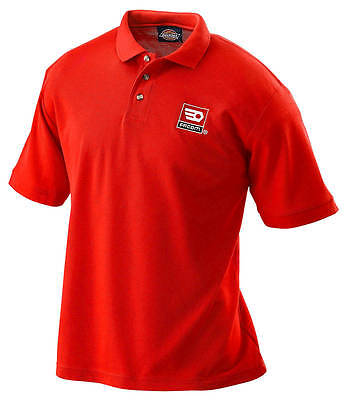 FACOM TOOLS RED POLO T SHIRT with Collar - MEDIUM - Made by Dickies