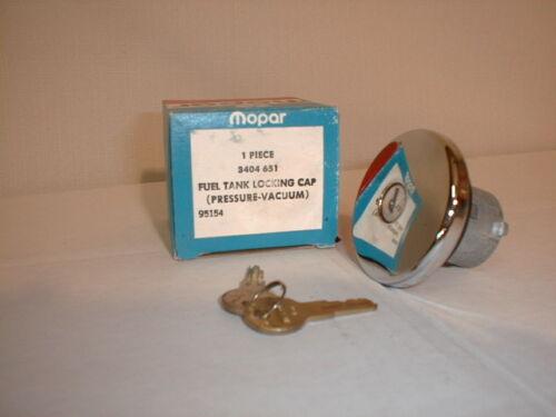 NOS Mopar chrome locking gas cap 1970 1971 1972 B-Body 3404651 Charger GTX R//T