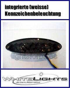 Mini-LED-Ruecklicht-Heckleuchte-oval-schwarz-Streetfighter-Custom-Bike-Cruiser