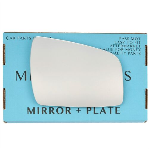 Droit Côté Conducteur Plat Aile Miroir De Verre Pour Vauxhall Zafira B 2009-2014 Plaque
