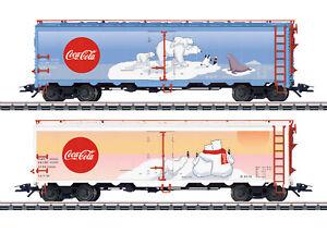 Maerklin-H0-45687-US-Gueterwagen-Set-034-Coca-Cola-034-Neuheit-2019-NEU-OVP