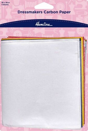 5 Sheets Large Dressmakers Tracing Carbon Paper 69 x 28 cm
