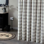 WICKLOW Dove Gray Winter White Check Fabric Shower Curtain by Park Designs