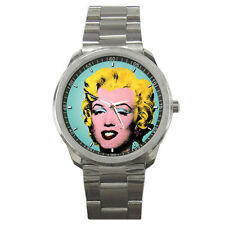 MARILYN MONROE ANDY WARHOL STYLE SPORT STAINLESS WATCH